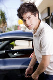 Man opening car Royalty Free Stock Photos