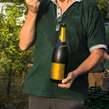 Man opening champagne Royalty Free Stock Photos