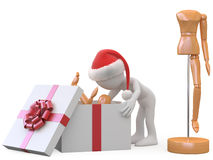 Man opening a gift Royalty Free Stock Image
