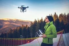 Man operating a drone Royalty Free Stock Photography