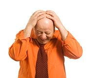 The man in an orange shirt Stock Photography