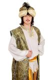 Man in oriental costume Stock Image