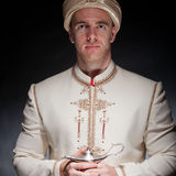 Man in oriental costume Royalty Free Stock Photos