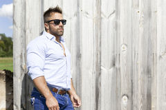 Man outdoor background Stock Images