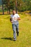 Man Outdoor running Stock Photography