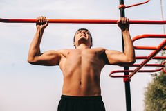 Man outdoor training Stock Photography