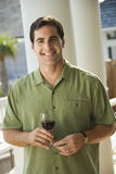 Man Outdoors Drinking Wine Stock Photos