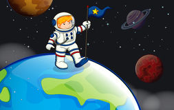 A man in the outerspace Royalty Free Stock Photo