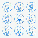 Man outline silhouettes. Stock Photography