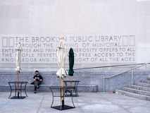 Free Man Outside Brooklyn Public Library Royalty Free Stock Images - 25435089