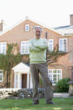 Man Outside His House Royalty Free Stock Image