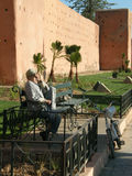 Man outside Marrakech Royalty Free Stock Image