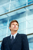 Man outside office building Royalty Free Stock Photos