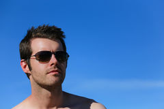 Man outside with sunglasses Stock Photography