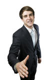 Man with outstretched arm Stock Photos