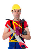 Man over-worked Royalty Free Stock Photo