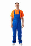 Man in overalls Royalty Free Stock Photos