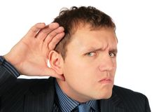 Man overhears Royalty Free Stock Images