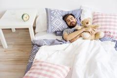 Man is overslept Stock Image