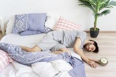 Man is overslept Royalty Free Stock Image