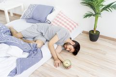 Man is overslept Royalty Free Stock Photos