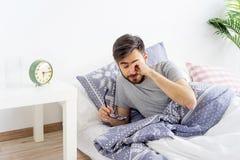 Man is overslept Stock Photography
