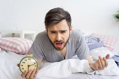 Man is overslept Royalty Free Stock Images