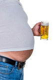 Man with overweight Stock Photo