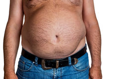 Man with overweight Royalty Free Stock Image