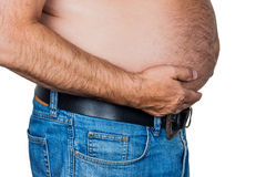 Man with overweight Royalty Free Stock Photo