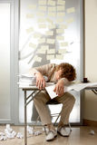 Man overworked Stock Photography