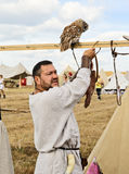 Man and owl Royalty Free Stock Photography