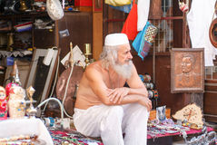 Man owner of a gift shops at Mostar Royalty Free Stock Images
