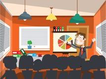Man på affärskonferens Arkivbild