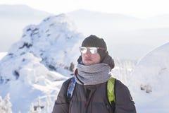 Man på bergskedja Zyuratkul royaltyfri fotografi