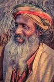 Man på festivalen i västra Bengal Arkivfoto