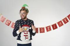Man på jul Royaltyfri Fotografi