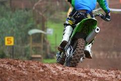 Man på motocross Arkivfoto