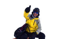 Man på stora Baldy Ridge Arkivfoto