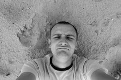 Man på stranden Royaltyfria Foton