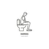 Man på toalettillustrationen vektor illustrationer