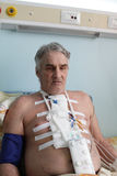 Man with pacemaker Stock Photo