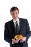 Man with packing Royalty Free Stock Photos
