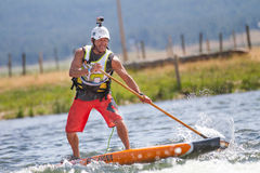 Man on a paddle board Royalty Free Stock Images