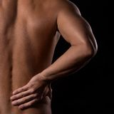Man and pain Royalty Free Stock Photo