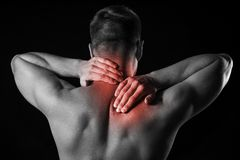 Man and pain Stock Photography