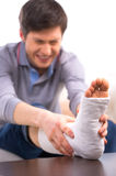 Man in pain stock photography