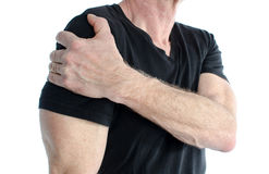 Man with painful shoulder Royalty Free Stock Image
