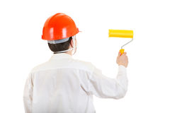 Man with Paint Roller Royalty Free Stock Image