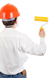 Man with Paint Roller Stock Photography